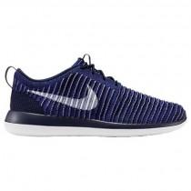 Nike Roshe Two Flyknit Männer Schuhe 844833 402 Hochschule Marine/Weiß/Vorrangig Blau