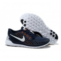 Männer Nike Free 5.0 V2 Marine Blau Weiß