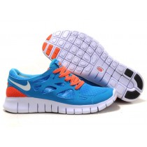 Damen Nike Free Run 2 Gelb-Grün Blau Weiß Schwarz Gesamt Orange Schuh