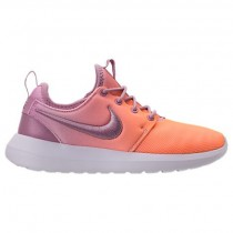 Nike Roshe Two Breathe Damen Schuh 896445 500 Orchidee/Dunkel Orange/Weiß