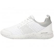 Männer Weiß/Weiß Speckle Supra Scissor Sneaker