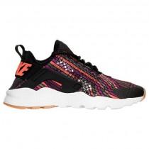 Frauen Nike Air Huarache Run Ultra Jacquard Schwarz/Rot/Grau Schuh 885019 001