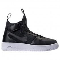 Damen Nike Air Force 1 Ultraforce Mitte Schwarz/Schwarz/Weiß Schuhe 864025 001
