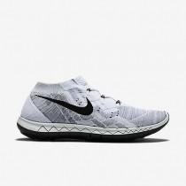 Nike Free 3.0 Flyknit Weiß/Grau Weiß/Wolf Grau/Schwarz Männer Schuh
