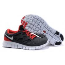 Nike Free Run 2 Herren Fluoreszierend Grün Weiß Schwarz Sport Rot Sneaker
