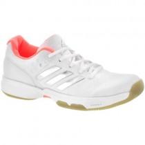 Frauen Adidas Adizero Ubersonic 2 Weiß/Silber Metallisch/Glühen Orange Schuhe