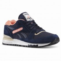 Blau/Rosa Reebok Gl 6000 aus-Farbe Frauen Klassiker Schuhe