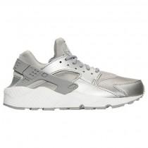 Nike Air Huarache Run Se Frauen Schuh 859429 002 Metallisch Silber/Gipfel Weiß