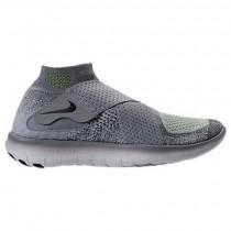 Männer Nike Free Rn Motion Flyknit Wolf Grau/Schwarz/Cool Grau Schuhe 880845 002