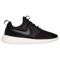 Herren Nike Roshe Two Schwarz/Fluoreszierend Grün/Beige Schuh 844656 003