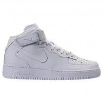 Herren Nike Air Force 1 Mitte Weiß/Weiß Schuhe 315123 111
