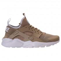 Herren Nike Air Huarache Run Ultra Schuh 819685 200 Khaki/Blass Grau/Weiß