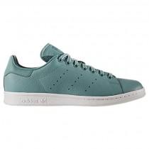 Herren Adidas Stan Smith Natürlich Leder Schuhe Bb0054 Grün/Schuhwerk Weiß