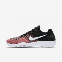Damen Nike Free Tr Flyknit 2 Schwarz/Rot/Dunkel Grau/Weiß Schuh