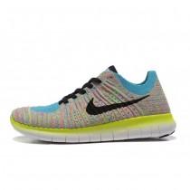 Blau Fluoreszierend Schwarz Nike Free Flyknit 5.0 Damen Schuh