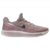 Damen Nike Lunarepic Low Flyknit 2 Sneaker 863780 005 Grau/Metallisch Silber/Dunkel Orange