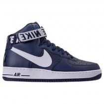Nike Nba Air Force 1 Hoch 07 Männer Schuh 315121 414 Hochschule Marine/Weiß