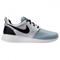 Damen Nike Roshe One Lx Sneaker 881202 002 - Metallisch Silber/Schwarz/Glimmer Blau