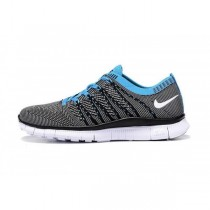 Damen/Herren Nike Free Flyknit Nsw Grau/Blau Schuh