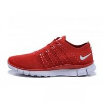 Nike Free Flyknit Nsw Rot/Weiß Damen/Herren Schuhe