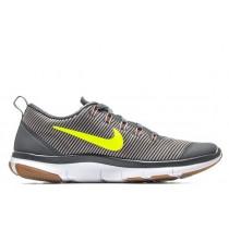 Herren Nike Free Train Versatility Dunkel Grau/Volt/Blass Grau/Lava Glühen Schuh