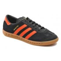 Adidas Originals Hamburg Wildleder Schwarz/Orange Frauen Schuh