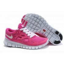 Rosa Weiß Nike Free Run 2 Frauen Schuhe