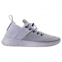 Weiß/Neu Grün/Wild Traube Damen Nike Free Rn Commuter Sneaker 922911 100