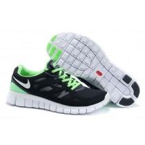 Männer Nike Free Run 2 Schuh Schwarz Weiß Fluoreszierend Grün Limette