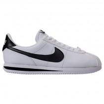 Männer Weiß/Schwarz Nike Cortez Basic Leder Schuh 819719 100