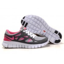 Nike Free Run 2 Dunkel Grau Pfirsich Rot Damen Schuh