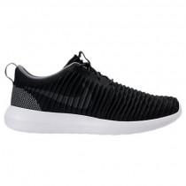 Herren Nike Roshe Two Flyknit Sneaker 844833 010 Schwarz/Dunkel Grau/Weiß