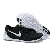 Herren Nike Free 5.0 V2 Schwarz Weiß