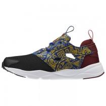 Frauen Reebok Furylite Afrikanisch Pack Klassisch Schuhe (Schwarz/Weiß/Merlot/Ernte Grün/Kollegium Königlich)