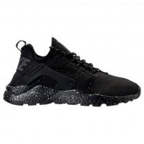 Nike Air Huarache Run Ultra Si Damen Schuh 881100 002 Schwarz/Dunkel Grau/Metallisch Silber