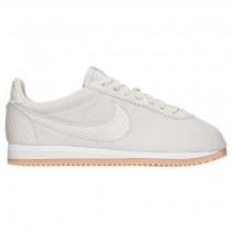 Damen Nike Cortez Se Schuh 902856 002 Licht Knochen/Weiß/Gummi Gelb