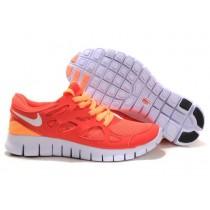 Nike Free Run 2 Rot/Orange/Weiß Damen Schu