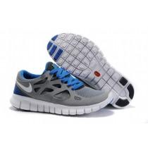 Herren Cool Grau Weiß Schwarz Universität Königlich Nike Free Run 2 Sneaker