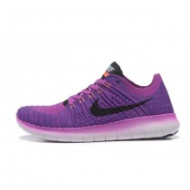 Lila Schwarz Nike Free Flyknit 5.0 Damen Schuh
