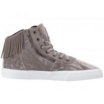 Frauen Supra Cuttler Grau/Antiquität Messing/Weiß Schuh