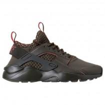Nike Air Huarache Run Ultra Se Herren Schuhe 875841 301 - Ladung Khaki/Gesamt Crimson