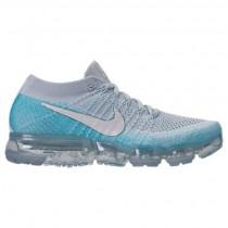 Nike Air Vapormax Flyknit Damen Schuhe 849557 014 Grau Weiß/Licht Blau