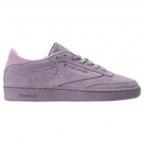 Purple Reebok Club C 85 Nubuck Frauen Schuhe Cm9055