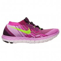 Frauen Nike Free 3.0 Flyknit Fuchsie Blitz/Schwarz/Blitz Limette/Himbeere Schuh