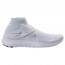 Männer Weiß/Wolf Grau/Grau Weiß Nike Free Rn Motion Flyknit Schuhe 880845 100
