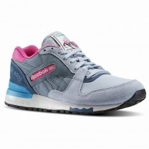 Grau/Grau Waschen/Blau/Türkis/Rosa Reebok Gl 6000 aus-Farbe Frauen Klassiker Schuhe