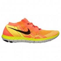 Nike Free 3.0 Flyknit Heiß Lava/Schwarz/Gesamt Orange/Mango Damen Sneaker