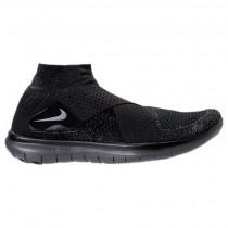 Schwarz/Dunkel Grau/Fluoreszierend Grün Herren Nike Free Rn Motion Flyknit Schuhe 880845 003