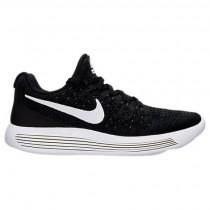 Frauen Nike Lunarepic Low Flyknit 2 Sneaker 863780 001 Schwarz/Weiß/Fluoreszierend Grün
