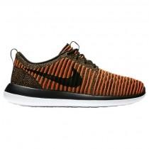 Herren Nike Roshe Two Flyknit Schuh 844833 009 - Schwarz/Weiß/Max Orange